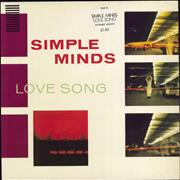 Click here for more info about 'Simple Minds - Love Song - Stickered Sleeve'