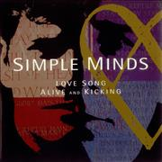 "Simple Minds Love Song + P/S UK 7"" vinyl"