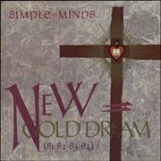 Simple Minds New Gold Dream - Purple Inner UK vinyl LP