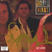 "Simple Minds She's A River - Numbered P/S UK 7"" vinyl"