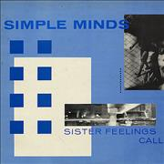 Simple Minds Sister Feelings Call UK vinyl LP