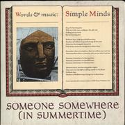 Click here for more info about 'Simple Minds - Someone Somewhere (In Summertime) - Poster Sleeve'