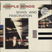 Simple Minds Sons & Fascination UK vinyl LP