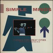 Simple Minds Themes For Great Cities Definitive Collection 79-81 USA vinyl LP