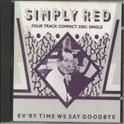 Simply Red Ev'ry Time We Say Goodbye - Silver Disc Germany CD single