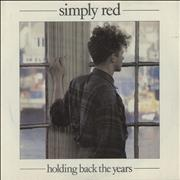 Click here for more info about 'Simply Red - Holding Back The Years - P/S'