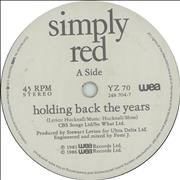 Click here for more info about 'Simply Red - Holding Back The Years'