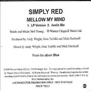 Click here for more info about 'Simply Red - Mellow My Mind'