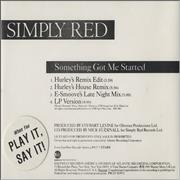 Click here for more info about 'Simply Red - Something Got Me Started - Picture'