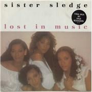 "Sister Sledge Lost In Music - Stickered sleeve UK 12"" vinyl"
