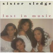 """Sister Sledge Lost In Music - P/s UK 12"""" vinyl"""