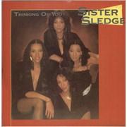 """Sister Sledge Thinking Of You + Sleeve UK 7"""" vinyl"""