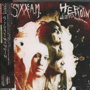 Sixx:AM The Heroin Diaries Soundtrack + Press Release Japan 2-disc CD/DVD set Promo