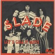 "Slade Let's Call It Quits Belgium 7"" vinyl"