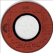 Click here for more info about 'Slade - Thanks For The Memory (Wham Bam Thank You Mam) - Wide Cent'