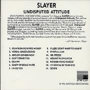 Click here for more info about 'Slayer - Undisputed Attitude'