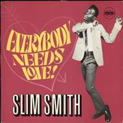 Click here for more info about 'Slim Smith - Everybody Needs Love! - black & orange label'