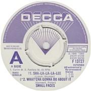 Click here for more info about 'Small Faces - Sha-La-La-La-Lee - A Label'