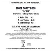 Click here for more info about 'Snoop Doggy Dogg - Vapors'