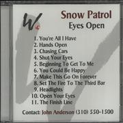 Click here for more info about 'Snow Patrol - Eyes Open - Sealed'