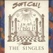 Click here for more info about 'Soft Cell - The Singles - Gold promo stamp'