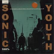 Click here for more info about 'Sonic Youth - 100% (One Hundred Per Cent) - Orange Vinyl + Numbered'