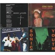 Sonic Youth Quantity of 8 CDs UK CD single
