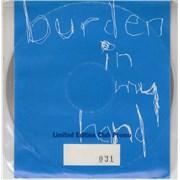 Soundgarden Burden In My Hand - numbered Club promo UK CD single Promo