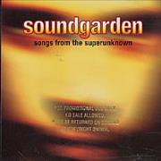 Soundgarden Songs From The Superunknown USA CD single Promo