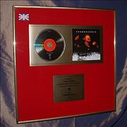 Soundgarden Superunknown UK in-house award disc