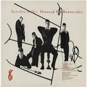 Spandau Ballet Through The Barricades + Poster UK vinyl LP