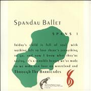 Click here for more info about 'Spandau Ballet - Through The Barricades - Stickered'
