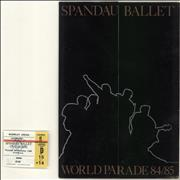 Click here for more info about 'Spandau Ballet - World Parade 84/85 + Folder + Ticket'
