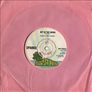"Sparks Get In The Swing UK 7"" vinyl Promo"