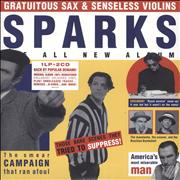 Click here for more info about 'Sparks - Gratuitous Sax & Senseless Violins - Yellow Vinyl + Two CDs - Sealed'