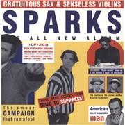 Sparks Gratuitous Sax & Senseless Violins - Yellow Vinyl + Two CDs - Sealed UK vinyl LP