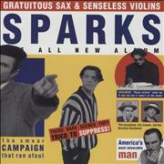 Sparks Gratuitous Sax & Senseless Violins - Red Vinyl UK vinyl LP