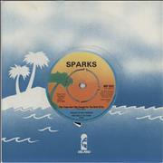"""Sparks This Town Ain't Big Enough - 1979 - 4prong UK 7"""" vinyl"""