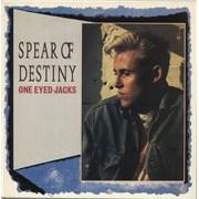 Spear Of Destiny One Eyed Jacks - Gold promo stamp UK vinyl LP