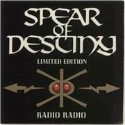 """Spear Of Destiny Radio Radio UK 7"""" vinyl"""