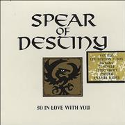 """Spear Of Destiny So In Love With You UK 7"""" box set"""