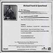 Click here for more info about 'Spearhead - Yes I Will'