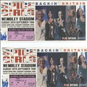 Click here for more info about 'Spice Girls - Wembley Stadium - Two ticket stubs'