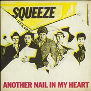 Click here for more info about 'Squeeze - Another Nail In My Heart - P/S - Clear - EX'