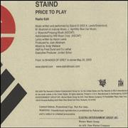 Click here for more info about 'Staind - Price To Play'