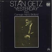Click here for more info about 'Stan Getz - 'Yesterday' From Carnegie Hall & Birdland'