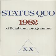 Click here for more info about 'Status Quo - 1982 Official Tour Programme XX'