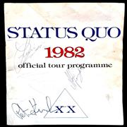 Click here for more info about 'Status Quo - 1982 XX - Autographed'