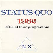Click here for more info about 'Status Quo - 1982 XX - Official Tour Programme + ticket stub'