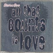 Click here for more info about 'Status Quo - All That Counts Is Love'